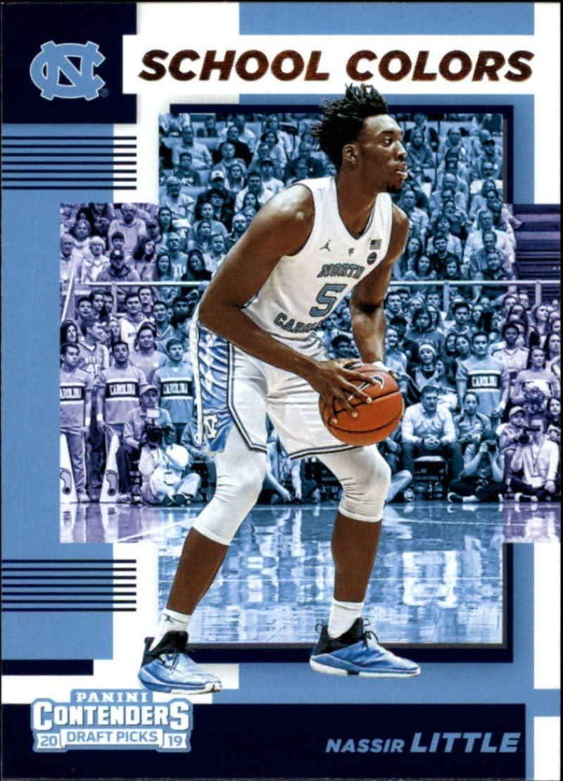 2019-20 Panini Contenders Draft Picks School Colors #8 Coby White North Carolina Tar Heels Basketball Card
