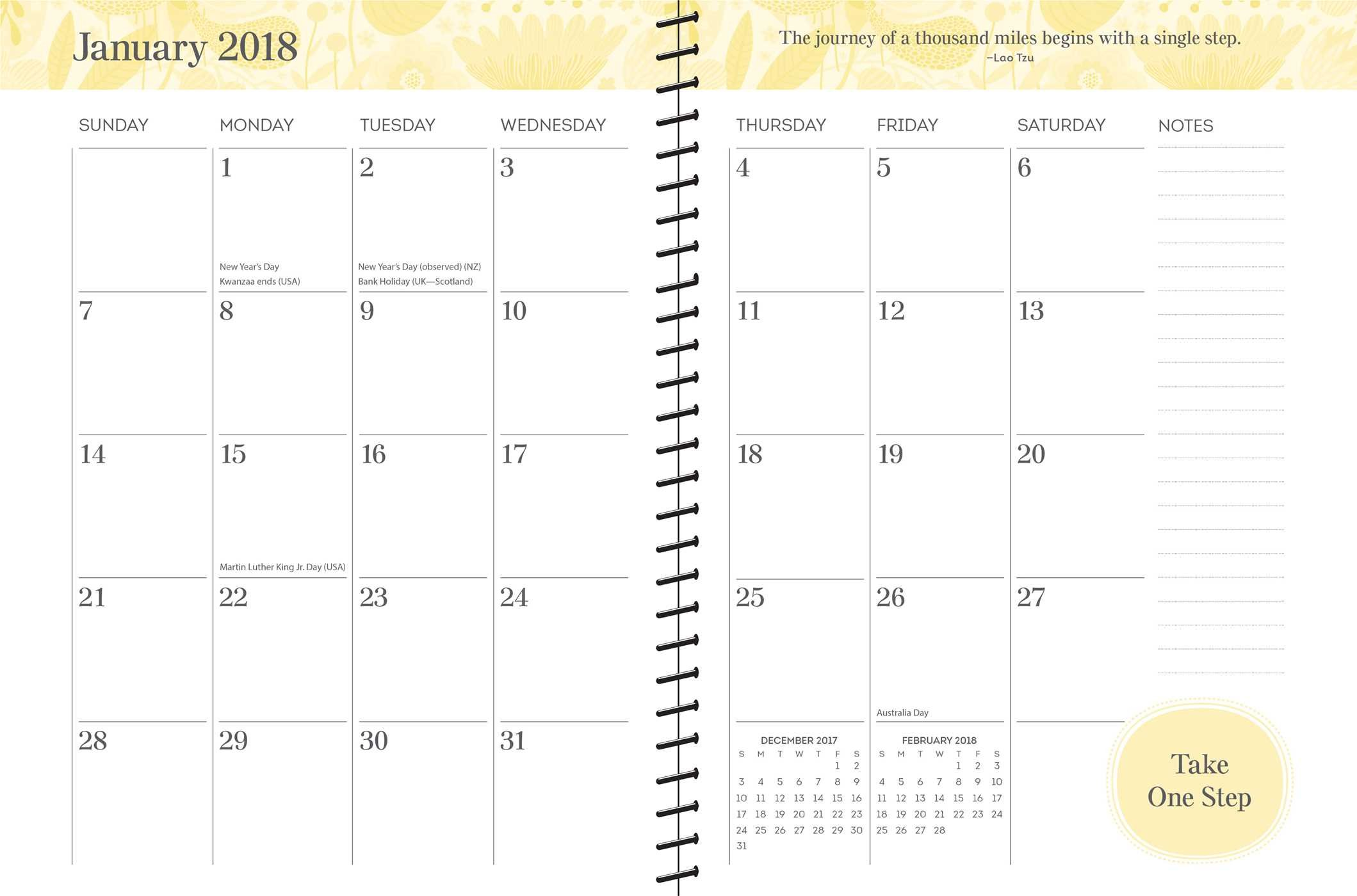 amazon posh happy living 2017 2018 monthly weekly planner