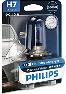 Philips Diamond Vision H7 Halogen 5000K Headlight Light Bulb (Pack of 1) & Amazon.com: Philips - Diamond Vision H7 Halogen HID Bulbs (Pair ... azcodes.com