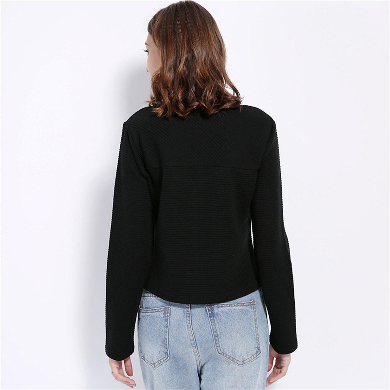 Amazon.com: YouzhiWan007 Women Basic Jacket New Spring New Solid Zipper Jacket CoBaseball Short Coat Black Biker Outwear Yellow XXL: Clothing