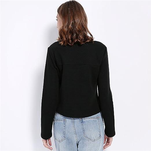Amazon.com: YouzhiWan007 Women Basic Jacket New Spring New Solid Zipper Jacket CoBaseball Short Coat Black Biker Outwear Yellow L: Clothing