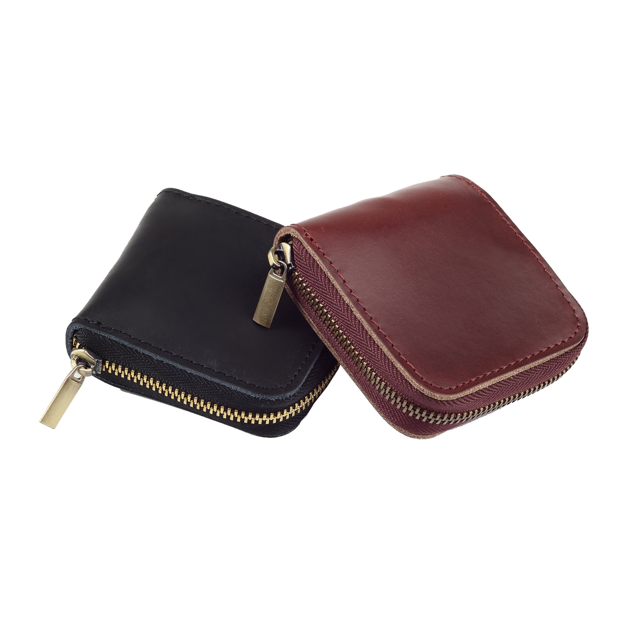 Leather Condom Case Condom Holder Small Zipper Bag