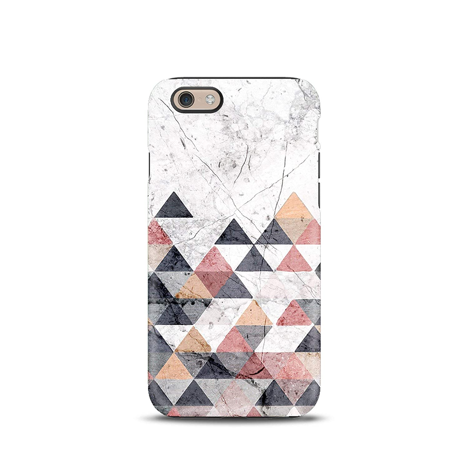 Marble Geometric Triangle Triangles cover case TPU Tough for iPhone 5, 5s, 6, 6s, 7, 7 plus, 8, 8 plus, X, XS, for Galaxy S6, S7, S8