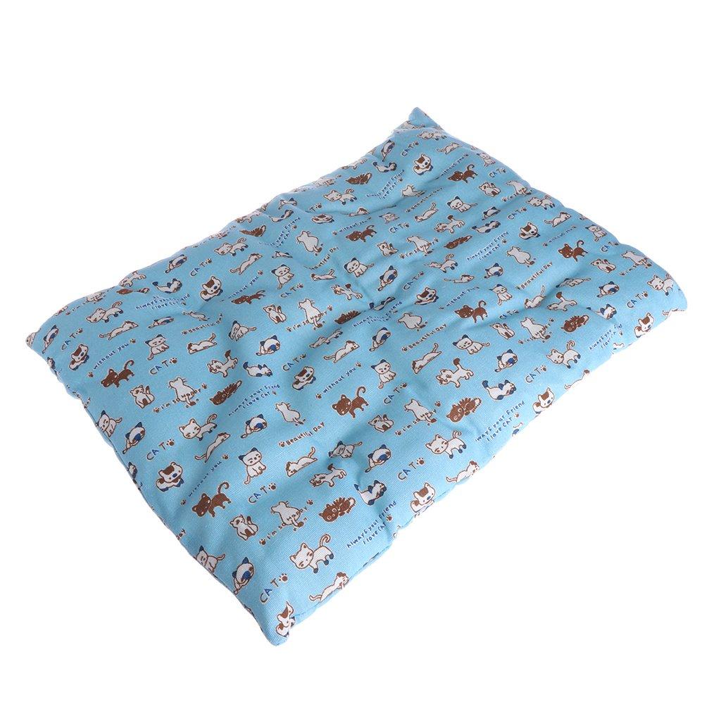 LANDUM Pet Mat cani gatti divano letto morbido cuscino blu Pad antiscivolo sonno estate tappeto, Blue, S: 45x30cm/17.72x11.81