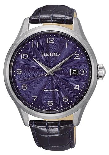 Seiko Reloj Analógico para Hombre de Automático con Correa en Cuero SRPC21K1: Amazon.es: Relojes