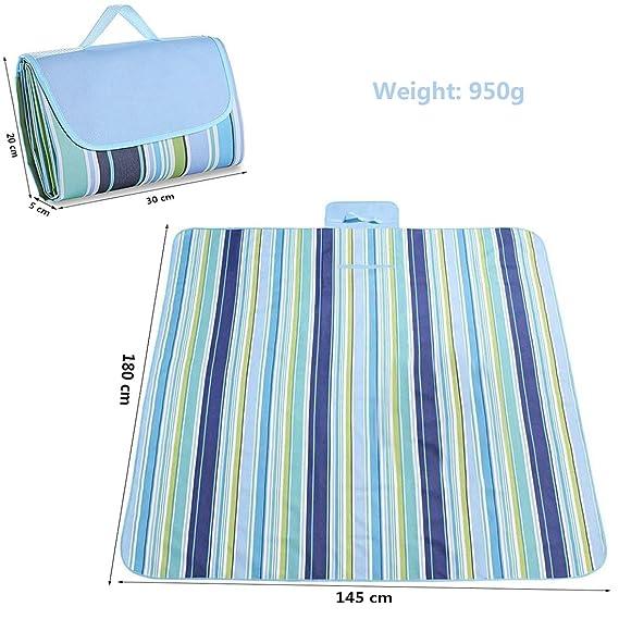 Ashleyoo Manta de pícnic, amping Playa Forma de bolsa - [Impermeable] [Resistente a la humedad][Plegable] [Protable] - 180Cm X 145Cm - alfombra de picnic: ...