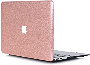 "Case for L2W MacBook Air 13, MacBook Air 13.3 inch Smooth Plastic Hard Shell Protective Case Cover of Sparkly Glitter Series Compatible with Laptop MacBook Air 13"" Model A1369/A1466 - Rose Golden"