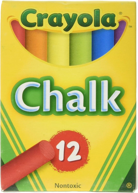 3 x 12 Pack CRAYOLA COLOUR CHALKS 36 x NEW School Home Childrens Art Chalk