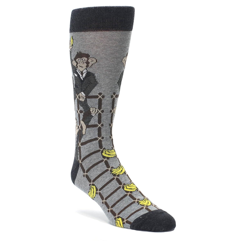 Statement Sockwear Monkey Business Corporate Ladder Mens Dress Socks