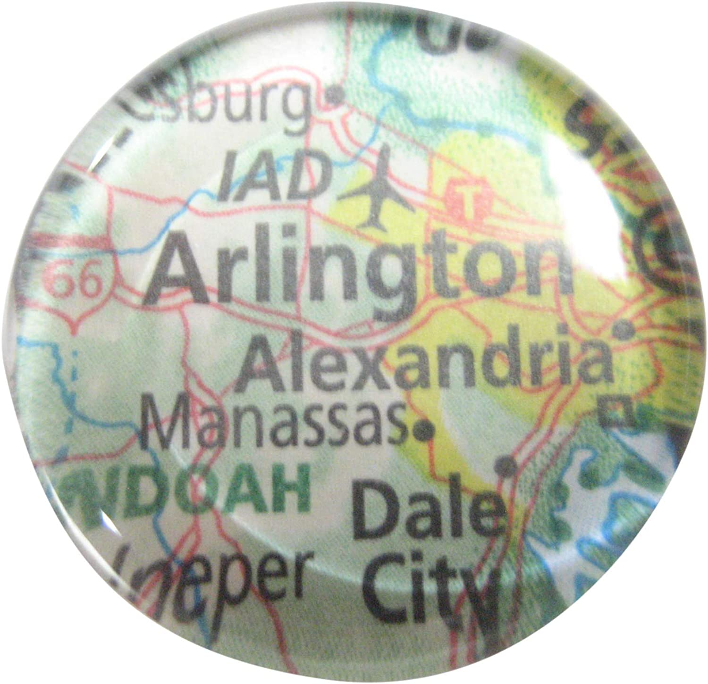 Kiola Designs Arlington Virginia Map Pendant Magnet