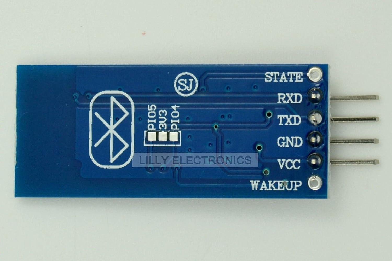 Q-BAIHE Bluetooth Módem Transeiver Módulo inalámbrico RF Mínimo Pass-Through HC-06 Esclavo: Amazon.es: Electrónica