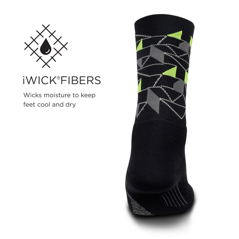 Elite Light Cushion Mini Crew Feetures Men/'s Socks Athletic Running Socks for Men and Women Feetures