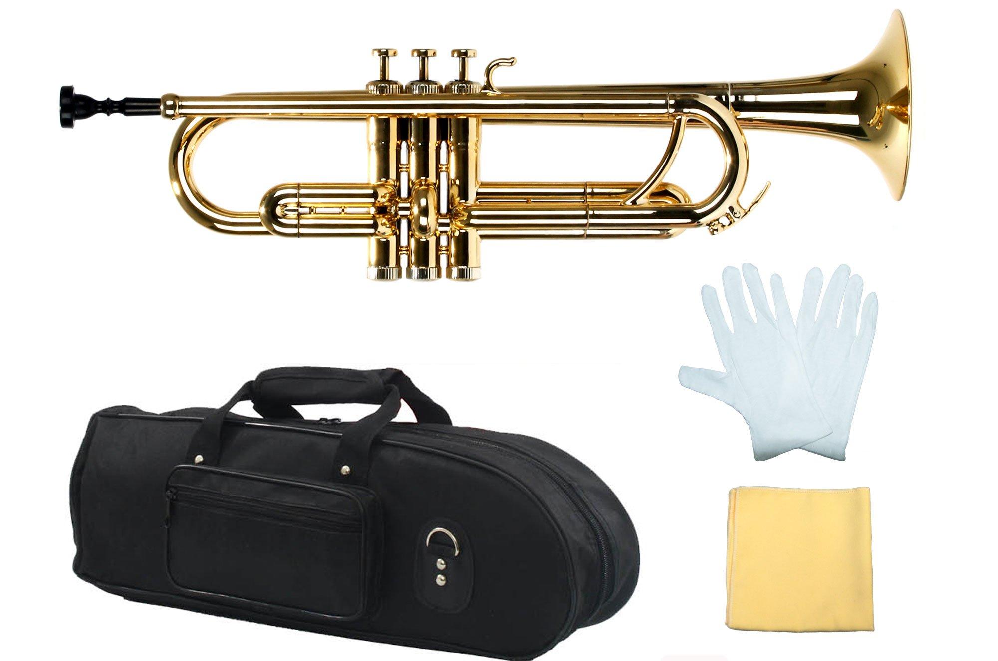Estella PTR200MGD Bb Plastic Trumpet, Metallic Gold