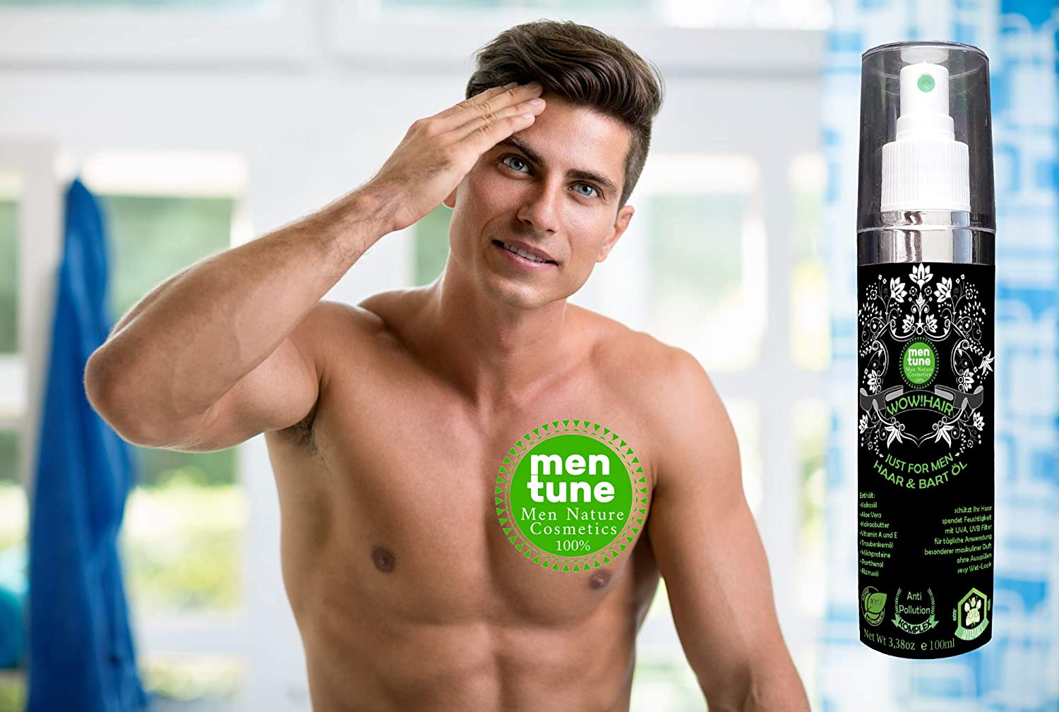 MenTune WOWHAIR Mann for men Bart & Haar Wachstums Öl Parfum