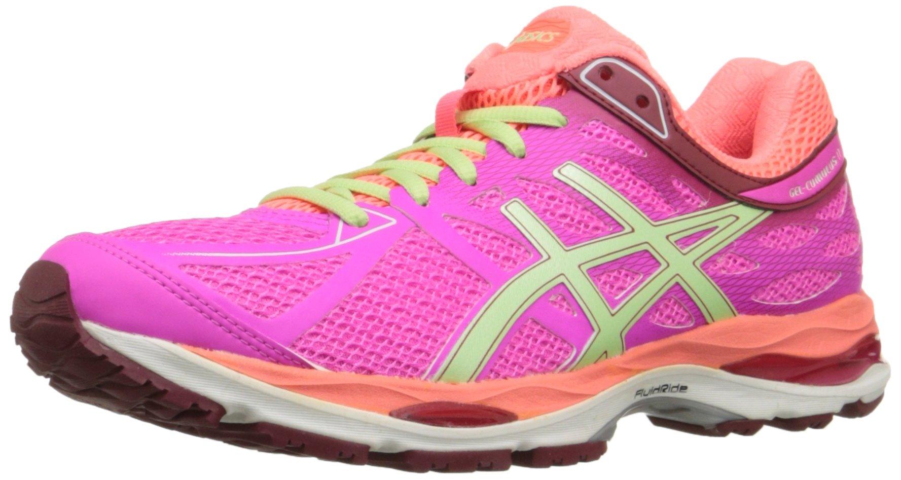 ASICS Women's Gel-cumulus 17 Running Shoe, Pink Glow/Pistachio/Flash Coral, 6.5 M US