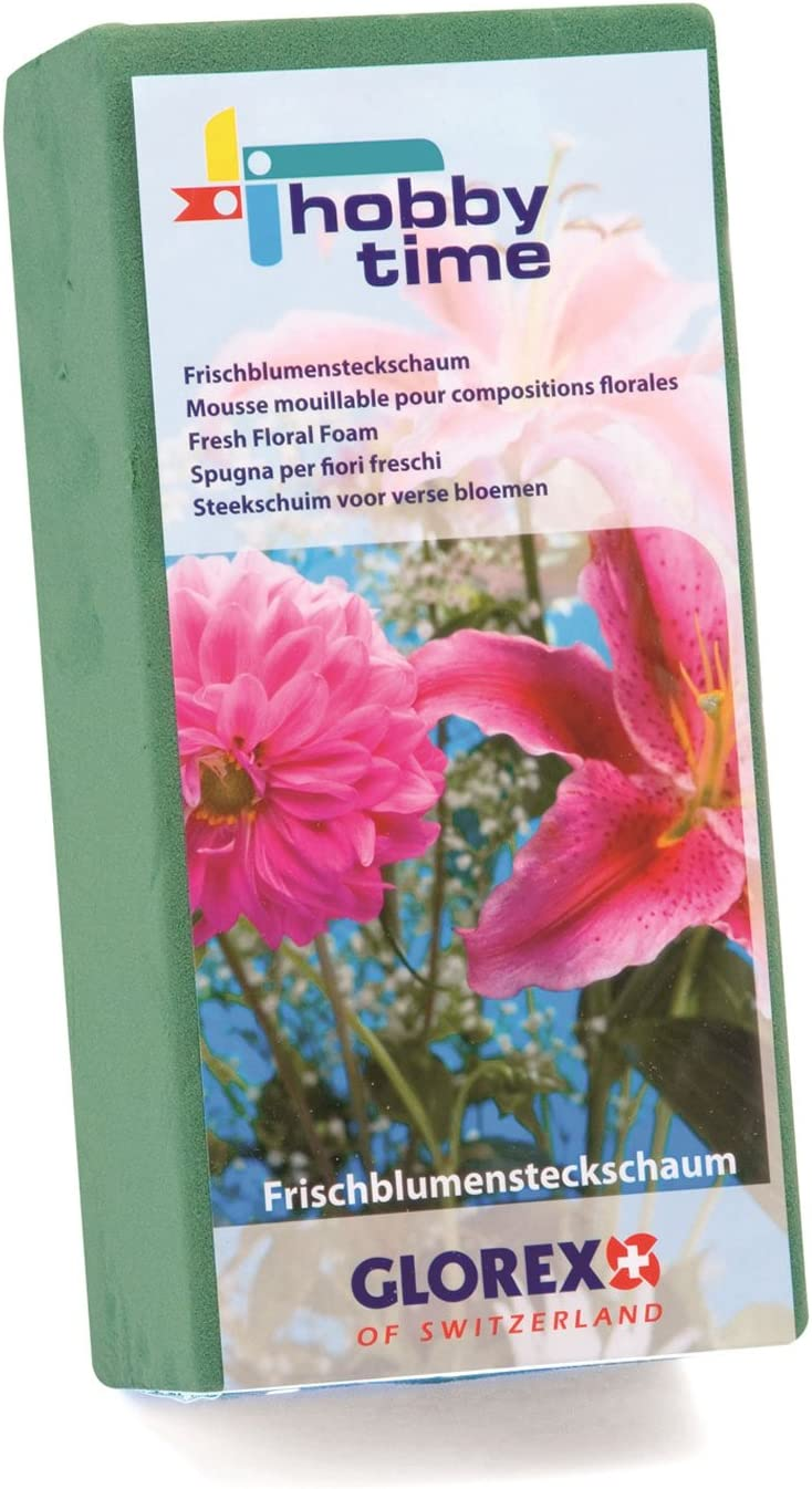 Glorex Espuma para Flores Frescas insertable 23 x 11 x 7,5 cm Multicolor