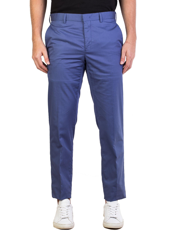 Prada Men's Fine Gabardine Trouser Pants Blue