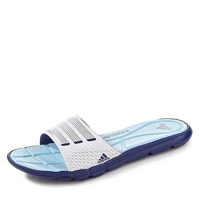 the best attitude 9cb9e ed966 adidas Adipure 360 Slide W Damen Flipflops, weißblauSilberblau,