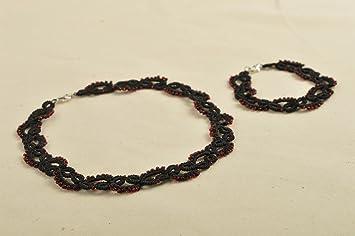 6255742242a1 Juego de bisuteria artesanal collar y pulsera de moda accesorios para  mujer  Amazon.es  Hogar