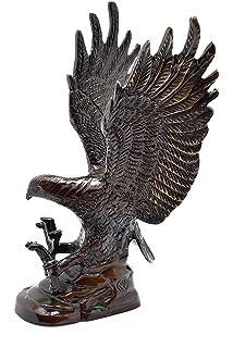 Liangliang988/Cina Bronzo Ottone Statua Aquila//Hawk Figure Figurine