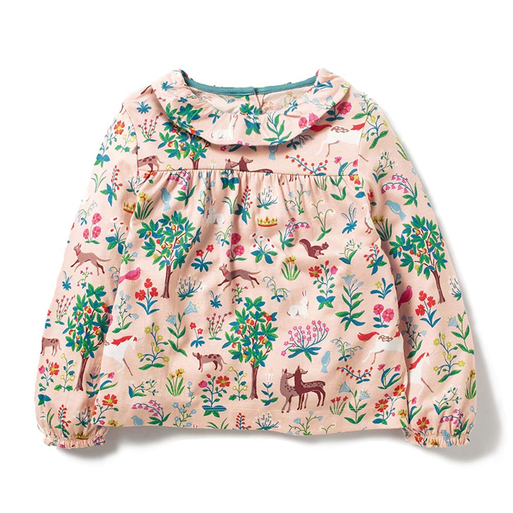 Dhasiue Kid & Toddler T-Shirts Boys Girls Tops Tees Cotton Crewneck Cute Embroidery Sweatshirts by Dhasiue (Image #1)
