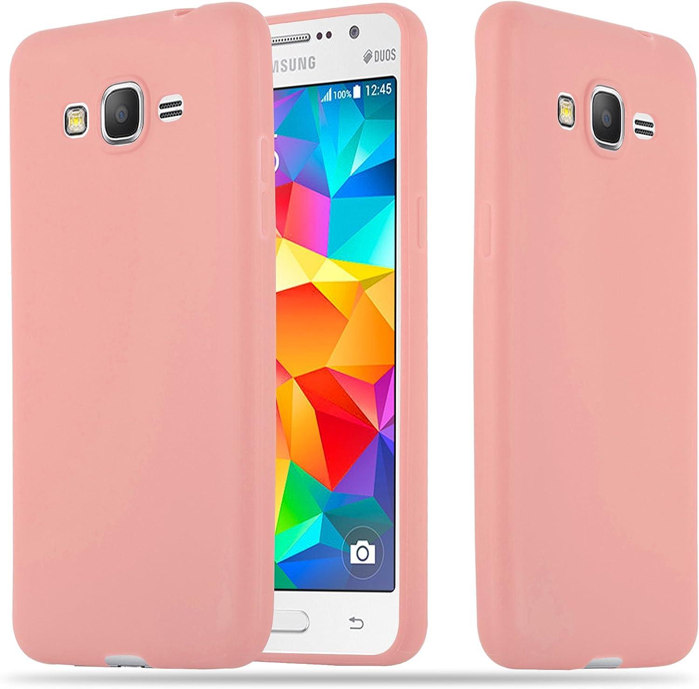 Cadorabo Coque pour Samsung Galaxy Grand Prime en Candy Rose Vif - Housse Protection Souple en Silicone TPU avec Anti-Choc et Anti-Rayures - Ultra ...