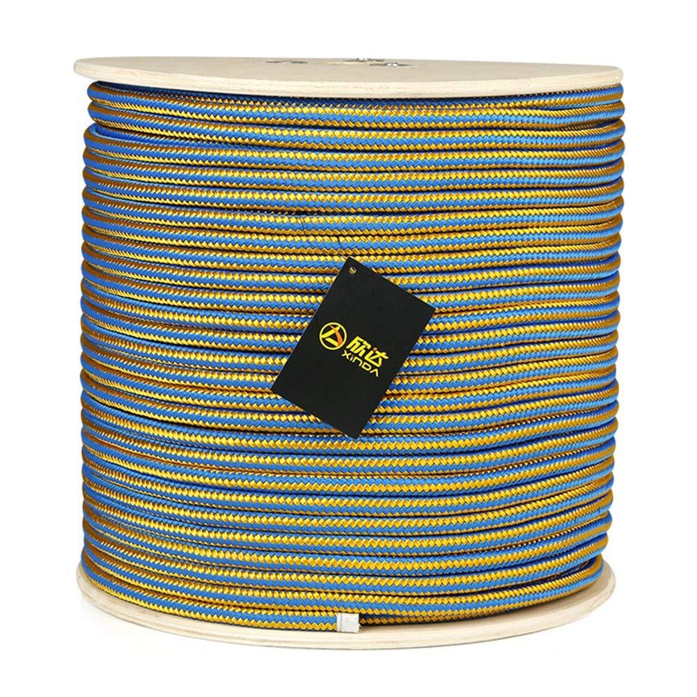 ロッククライミングロープ、11.5ミリメートル高温抵抗ツリークライミングロープ作業庭クライミングツリートレーニング上昇特別ロープ,Blue,50m 50m Blue B07QZBC66W