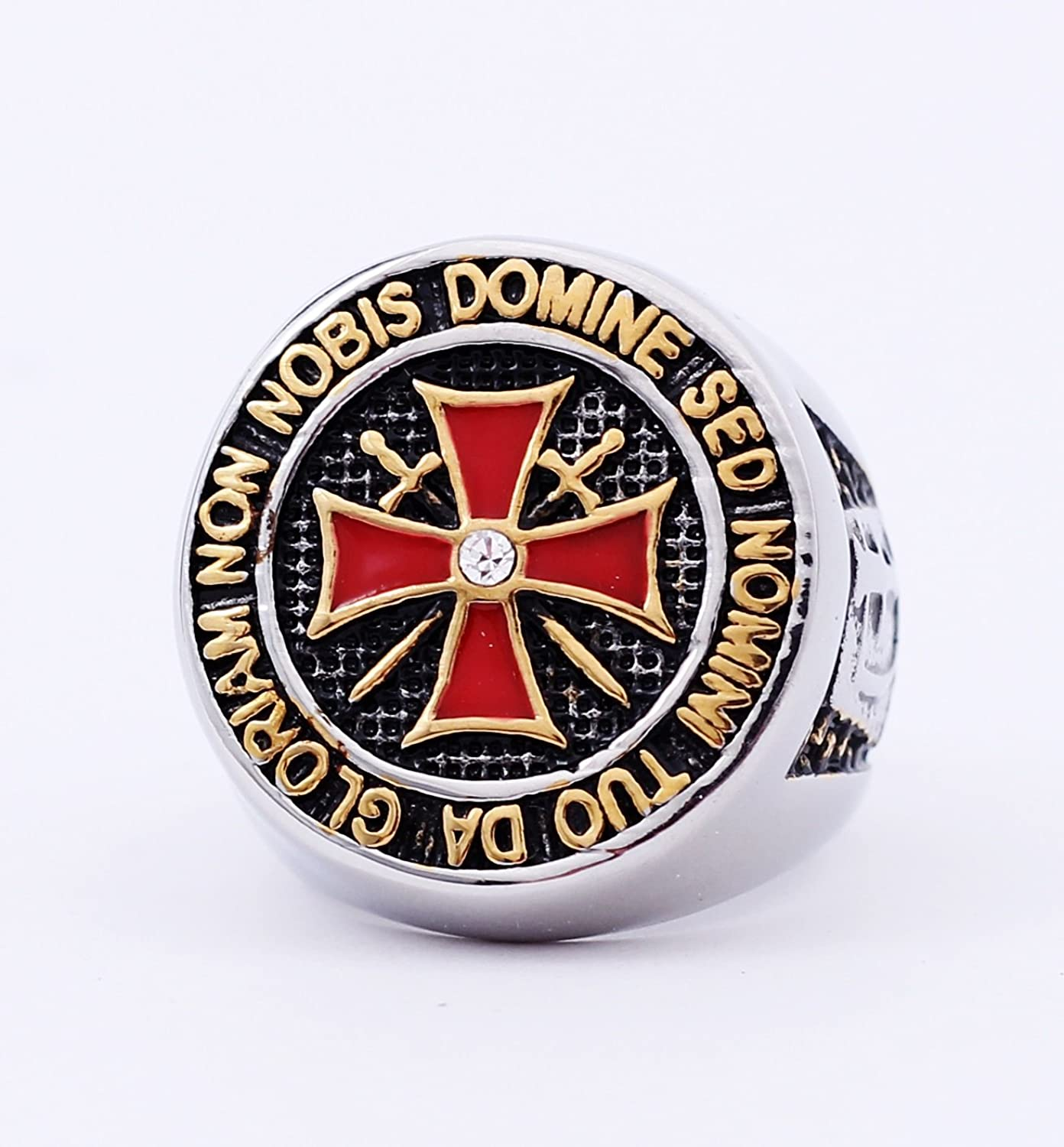 Deluxe Adult Costumes - Knight Templar Silver Stainless Steel Ring