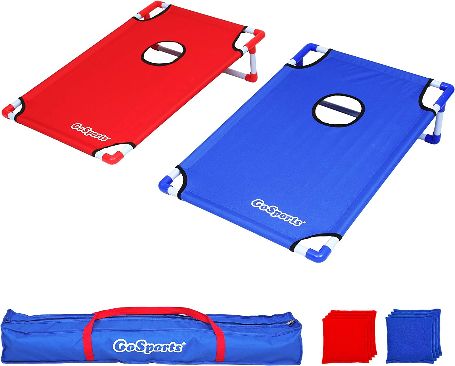 CORNHOLE BEANBAG TOSS GAME w Bags Game Boards Loaded Revolver Set 1100