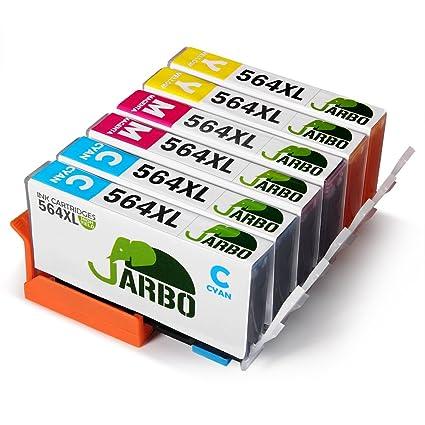 jarbo 3 colores 2 Juego Cartucho de tinta compatible para HP 564 ...