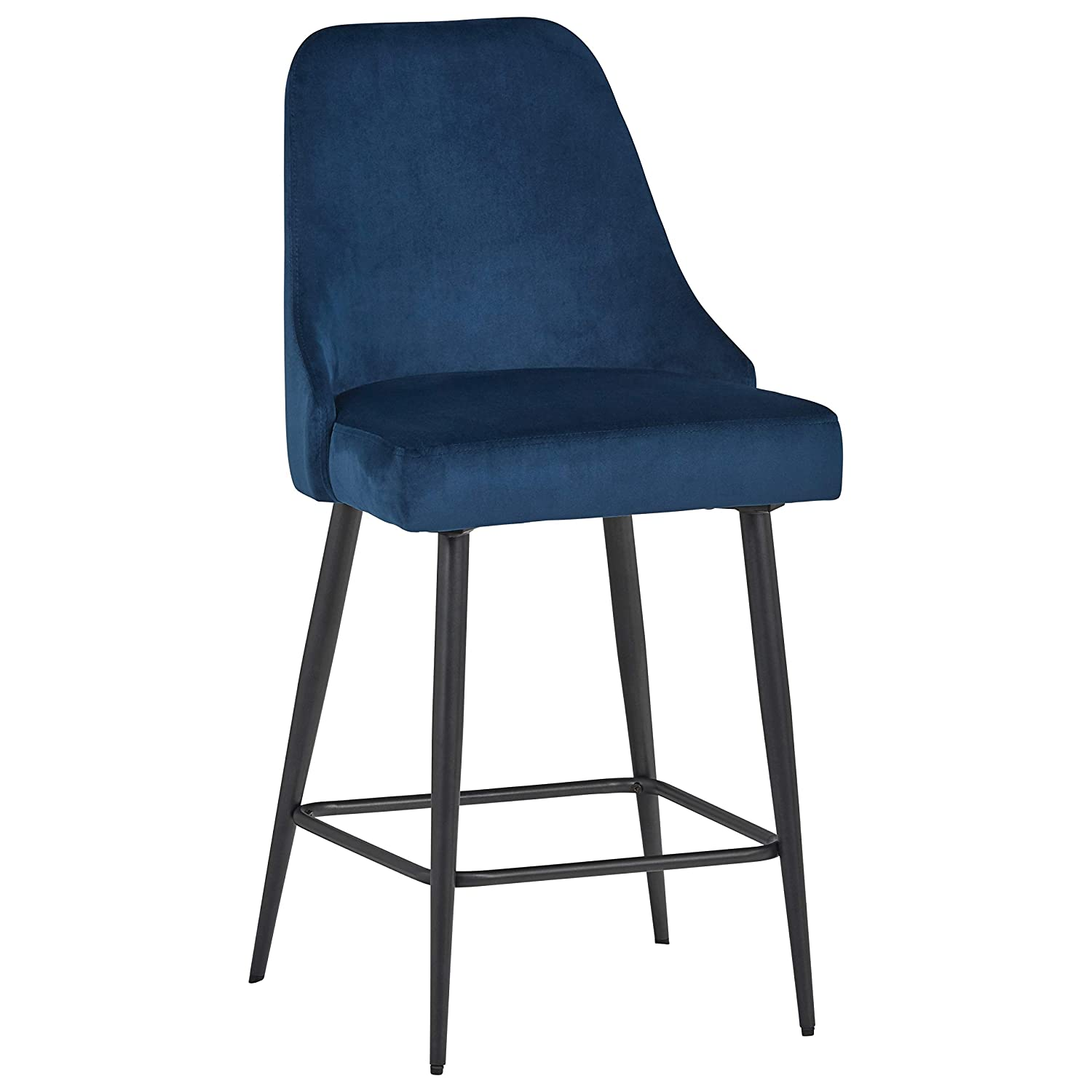 Rivet Modern Dining Chairs, Set of 2, 39.5 H, Blue
