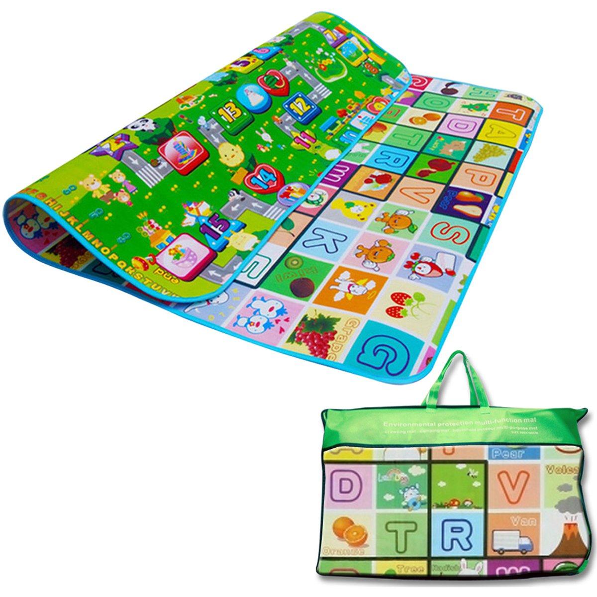 Denny International ® Kids Crawling Educational 2 Side Play Mat Game Soft Foam Picnic Carpet 200X180cm Denny International®