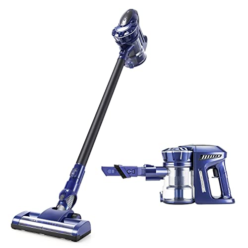 PUPPYOO Cordless Stick Vacuum Cleaner, 120W Motor 35mins Running Time 2 in 1 Handheld Vacuum Cleaner