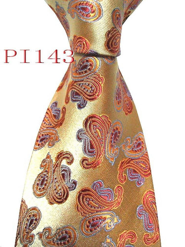 ファッションSHピンク143 # 100 %ジャカード編みハンドメイドデザインパッチワークメンズネクタイネクタイ   B072HQXB43