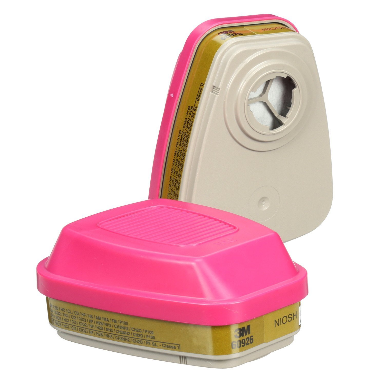 3M Multi Gas/Vapor Cartridge/Filter 60926, P100 Respiratory Protection, 12 Pairs by 3M (Image #4)
