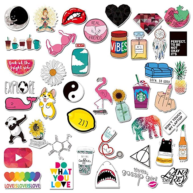 LayOPO Stickers for Laptop Waterproof Vinyl Stickers for Water Bottles Cute Trendy Graffiti Sticker Decals for Skateboard Luggage Phone Bicycle Motorcycle Guitar