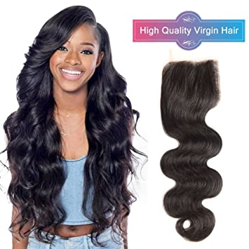 Hair Extensions & Wigs Closures Body Wave Lace Closure Human Hair 4x4 Brazilian Remy Hair Natural Black Free Middle 3 Part Bleached Knots With Baby Hair Kl Grade Products According To Quality