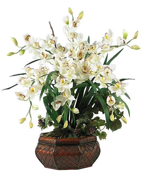Amazon Artificial Flowers Large White Cymbidium Flower