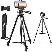 """UBeesize 50"""" Phone Tripod Stand, Aluminum Lightweight Tripod for Camera and Phone, Cell Phone Tripod with Phone Holder…"""