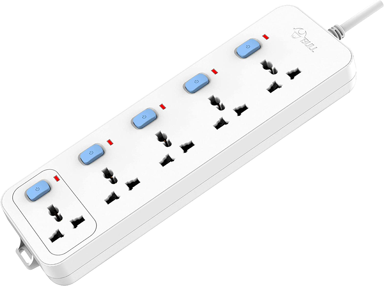 Bull (Gongniu) Extension Board; 5 Socket, 5 Switch, 3 M Wire