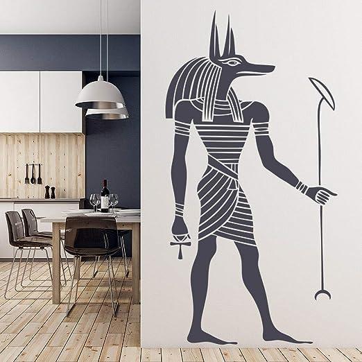 zzlfn3lv Anubis Egipcio Etiqueta de La Pared Antiguo Egipto Estilo ...