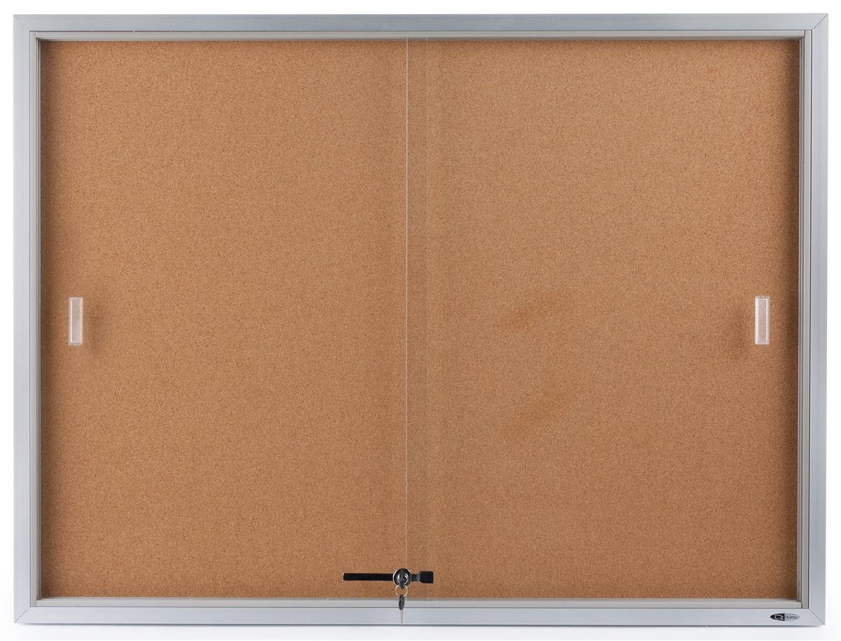 Displays2go 48 X 36 Inches Enclosed Bulletin Board For Wall Mount Silver Aluminum Frame Cbsd43sv