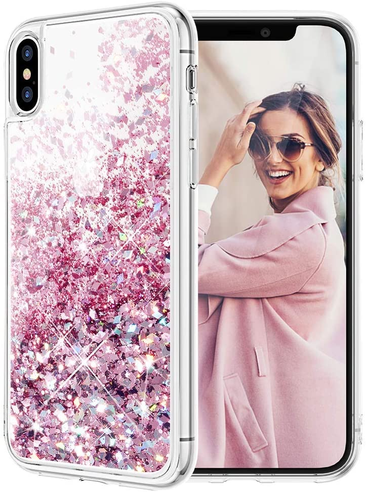 Iphone X Case Caka Iphone Xs Glitter Case Liquid Series Girls Luxury Fashion Bling Flowing Liquid Floating Sparkle Glitter Cute Soft Tpu Case For Iphone X Xs Rose Gold Amazon Ca Cell Phones