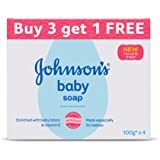 Johnson's Baby Soap 100g (Buy 3 Get 1 Free)