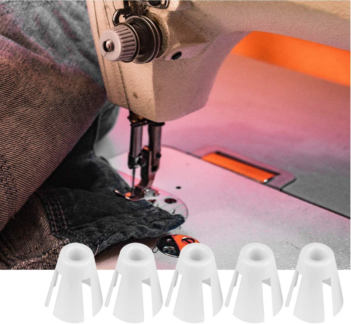 EXCEART 20 Pz Porta-Bobina Clip Bobine Pinze per Filo Macchina da Cucire Artiglio di Fissaggio per Ricamo Trapuntatura E Filo per Cucire Bianco