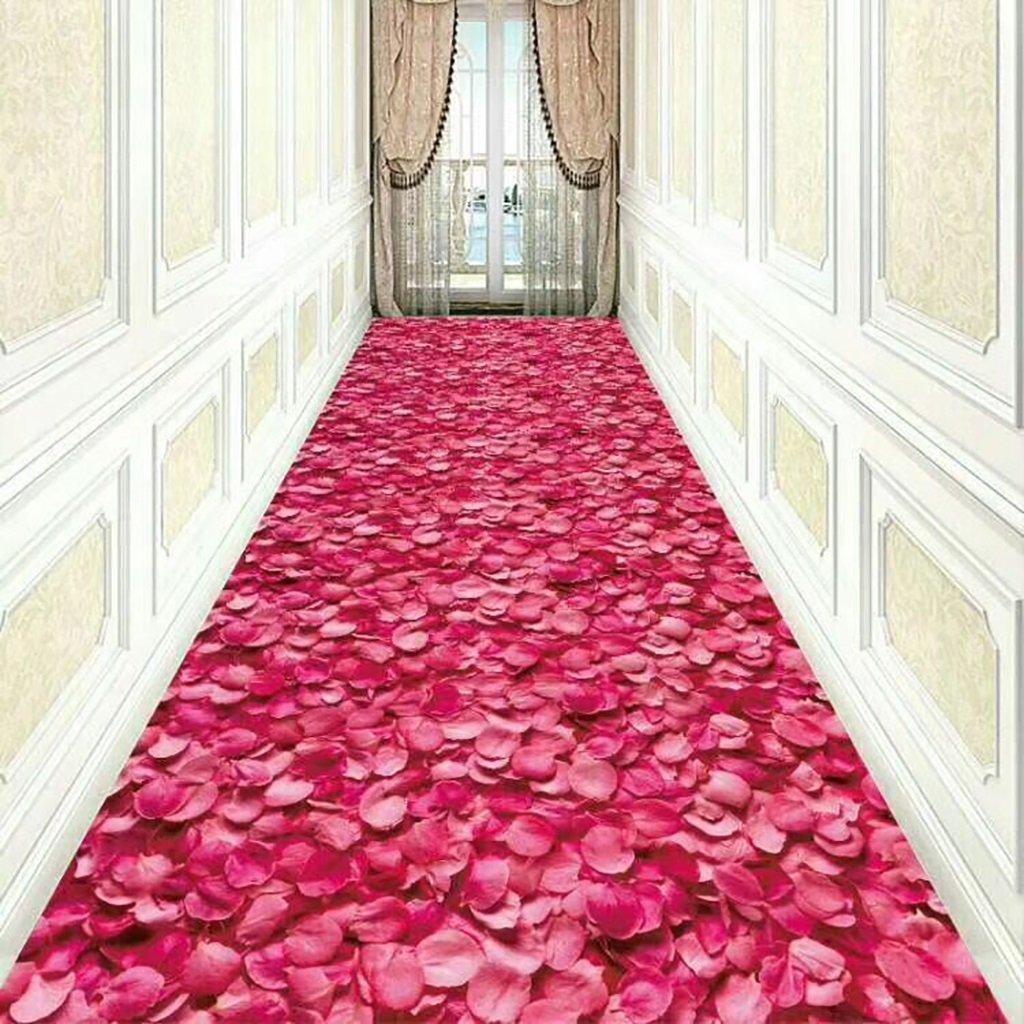 アイスカーペット、ヨーロッパスタイルのホテルの廊下階段の3Dバラ花びらのカーペット、商業ノンスリップカーペットマット、リビングルームベッドルームのベッドサイドカーペット (サイズ さいず : 80CM*15M) B07DSTXQ4H  80CM*15M