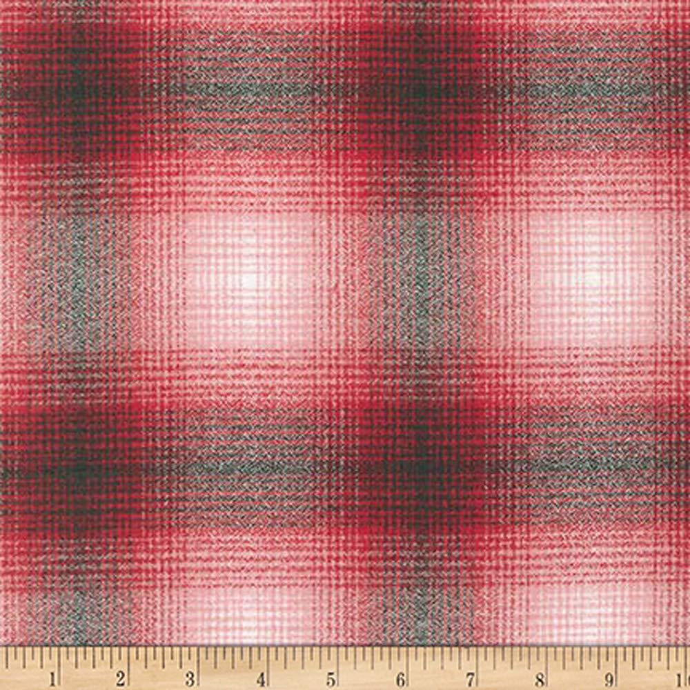 Robert Kaufman 0344795 Kaufman Mammoth Flannel Plaid Red//Black Fabric by the Yard