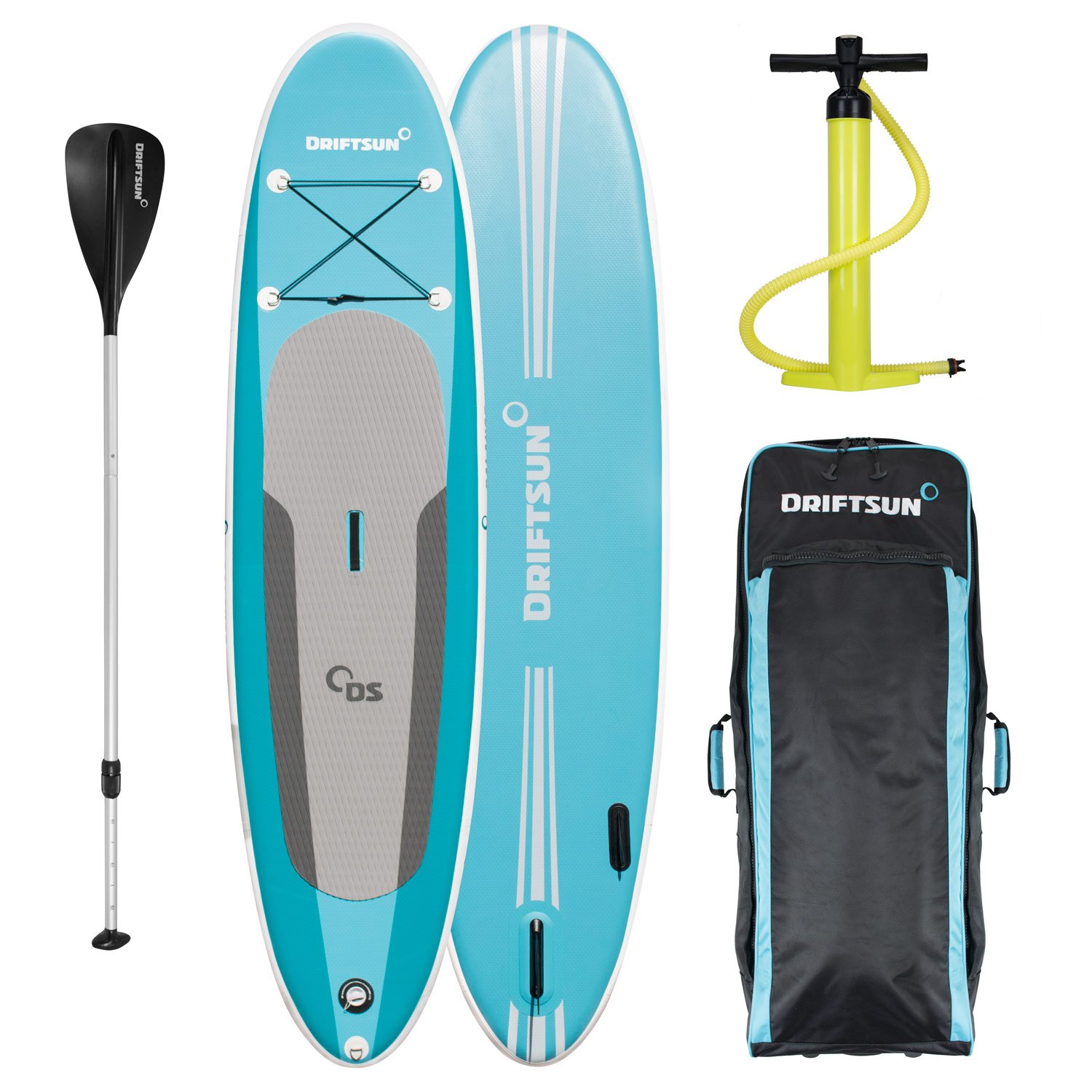 Driftsun Balance 11 Yoga SUP Inflatable Stand Up Paddle Board | Complete Package with Travel Backpack, Adjustable Paddle, Coil Leash - 11 Feet x 33 Inch