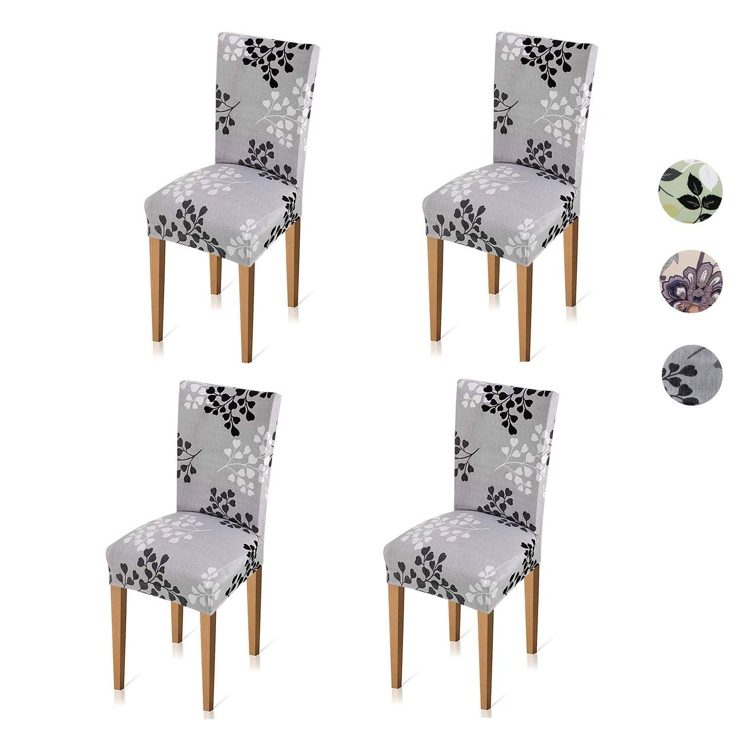 Amazon Xflyee Stretch Dining Room Chair Covers Jacquard Removable Washable Kitchen Parson Slipcovers Set Of 4 A Pack Home