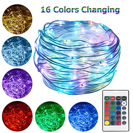 Amazoncom Hahome 33ft 100 Leds Christmas Lights Waterproof Color